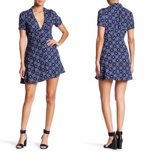 Free People | Blue Melody Printed Mini Dress